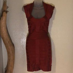 French Connection bandage red dress size 0